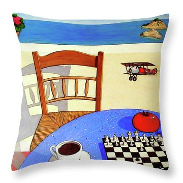 Afternoon Distractions Throw Pillow by Snake Jagger
