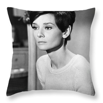 Audrey Hepburn (1929-1993) Throw Pillow by Granger