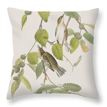 Autumnal Warbler Throw Pillow by John James Audubon