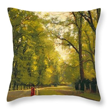 Backs Of The Colleges Cambridge Throw Pillow by Cyrus Johnson