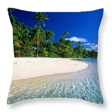 Beach Collection Throw Pillow by Marvin Blaine