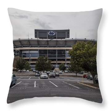 Beaver Stadium Penn State  Throw Pillow by John McGraw