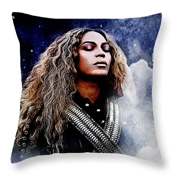 Beyonce  Throw Pillow by The DigArtisT