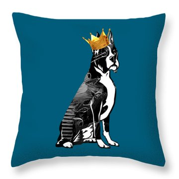 Boxer With Crown Collection Throw Pillow by Marvin Blaine