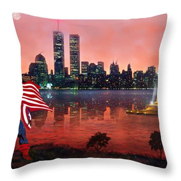 Captain America Throw Pillow by Michael Rucker