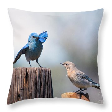 Check The Moves Throw Pillow by Mike Dawson
