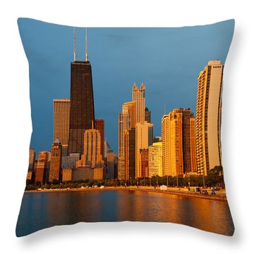Chicago Skyline Throw Pillow by Sebastian Musial