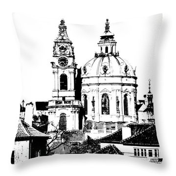 Church Of St Nikolas Throw Pillow by Michal Boubin