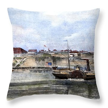 Civil War: Union Steamer Throw Pillow by Granger
