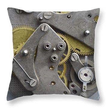 Clockwork Mechanism Throw Pillow by Michal Boubin
