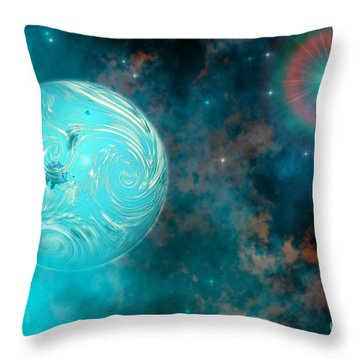 Coalescence Throw Pillow by Corey Ford