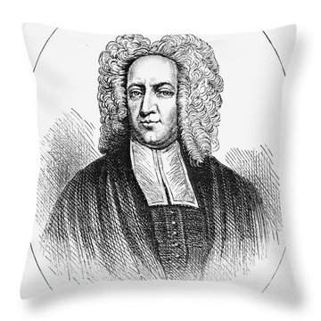 Cotton Mather (1663-1728) Throw Pillow by Granger
