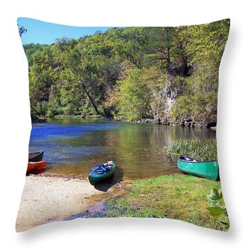 Current River 5 Throw Pillow by Marty Koch