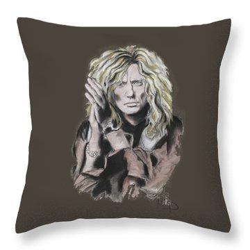 David Coverdale Throw Pillow by Melanie D