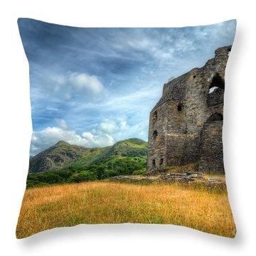 Dolbadarn Castle Throw Pillow by Adrian Evans