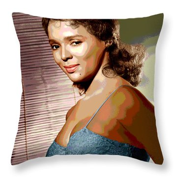 Dorothy Jean Dandridge Throw Pillow by Charles Shoup