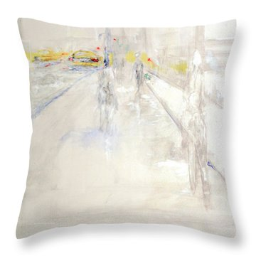 Early Winter In Manhattan Throw Pillow by Jack Diamond