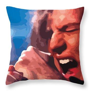 Eddie Vedder Throw Pillow by Gordon Dean II