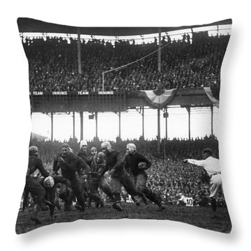 Football Game, 1925 Throw Pillow by Granger
