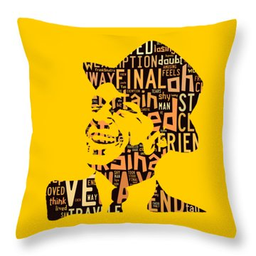 Frank Sinatra I Did It My Way Throw Pillow by Marvin Blaine