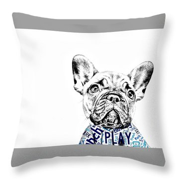 French Bulldog Portrait Throw Pillow by Marvin Blaine