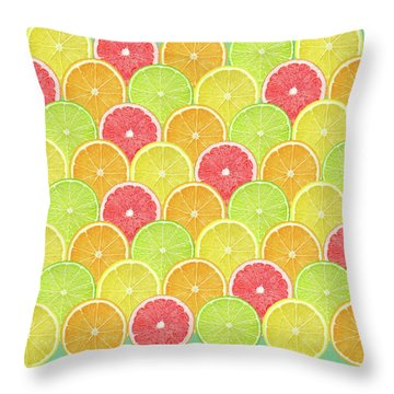 Fresh Fruit  Throw Pillow by Mark Ashkenazi
