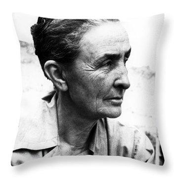 Georgia Okeeffe (1887-1986) Throw Pillow by Granger