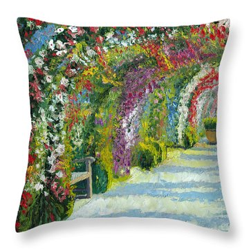 Germany Baden-baden Rosengarten Throw Pillow by Yuriy  Shevchuk