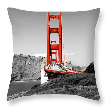 Golden Gate Throw Pillow by Greg Fortier