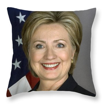 Hillary Clinton Throw Pillow by War Is Hell Store