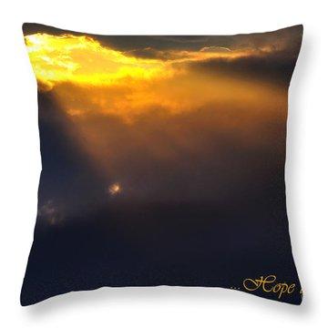 Hope Throw Pillow by Thomas R Fletcher
