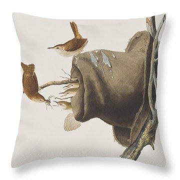 House Wren Throw Pillow by John James Audubon