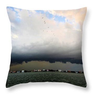 Into The Storm Throw Pillow by David Lee Thompson