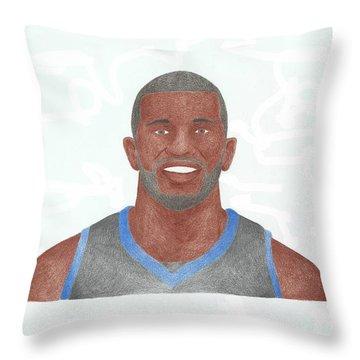 Jason Richardson Throw Pillow by Toni Jaso