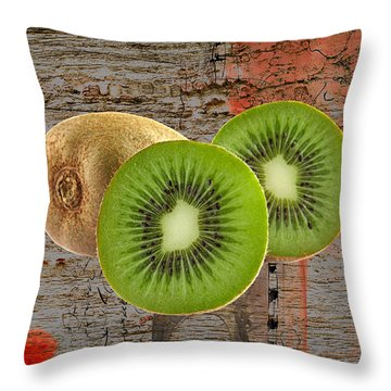 Kiwi Collection Throw Pillow by Marvin Blaine