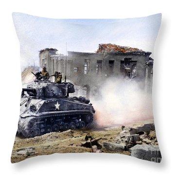 Korean War: Tank, 1951 Throw Pillow by Granger