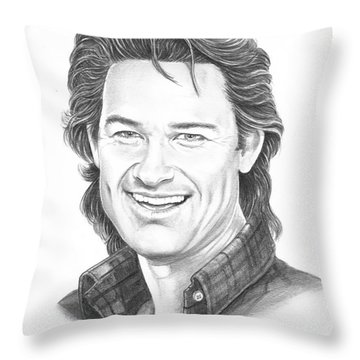 Kurt Russell Throw Pillow by Murphy Elliott