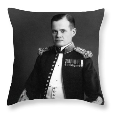 Lewis Chesty Puller Throw Pillow by War Is Hell Store