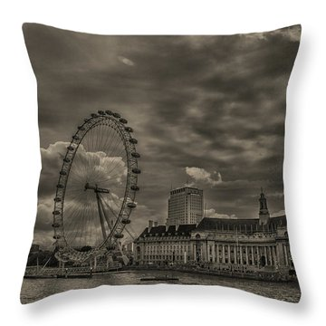 London Eye Throw Pillow by Martin Newman