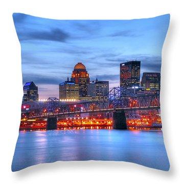 Louisville Kentucky Throw Pillow by Darren Fisher