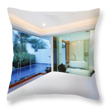 Luxury Bedroom Throw Pillow by Setsiri Silapasuwanchai
