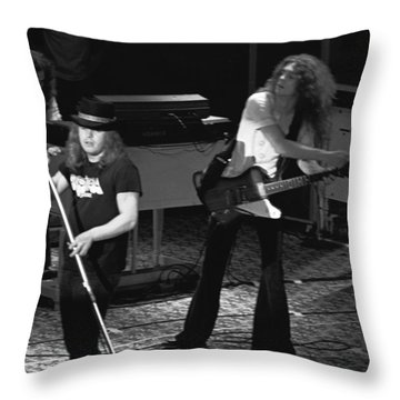 Lynyrd Skynyrd At Winterland Throw Pillow by Ben Upham