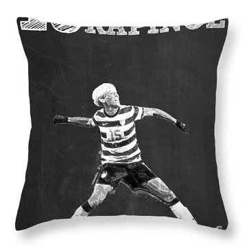 Megan Rapinoe Throw Pillow by Semih Yurdabak
