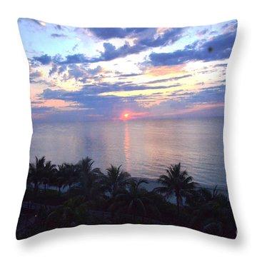 Miami Sunrise Throw Pillow by Pravine Chester