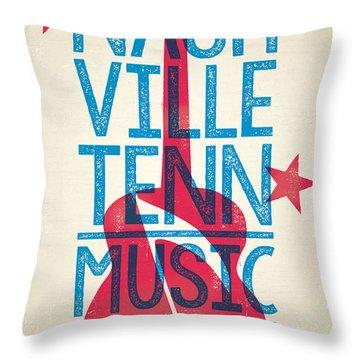 Nashville Tennessee Poster Throw Pillow by Jim Zahniser