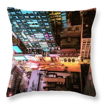 New York City - Night Throw Pillow by Vivienne Gucwa