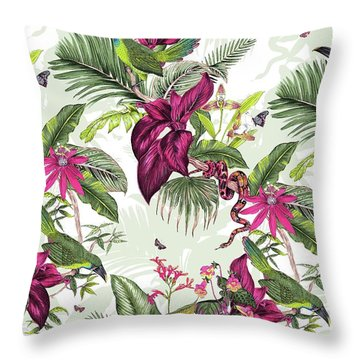 Nicaragua Throw Pillow by Jacqueline Colley