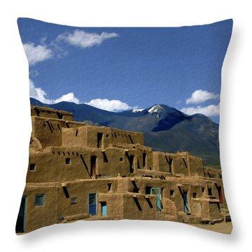 North Pueblo Taos Throw Pillow by Kurt Van Wagner