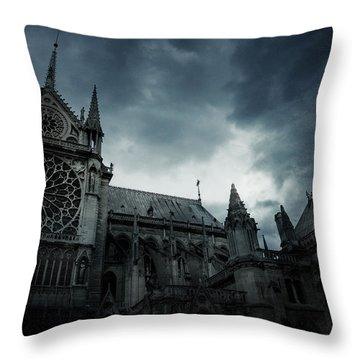Notre Dame De Paris Throw Pillow by Cambion Art