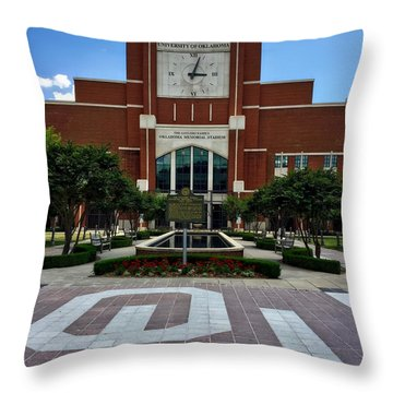 Oklahoma Memorial Stadium Throw Pillow by Center For Teaching Excellence